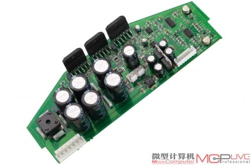 三颗lm3886功放芯片用于后级放大电路
